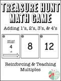 Adding 1's, 2's, 3's, and 4's Treasure Hunt Math Game