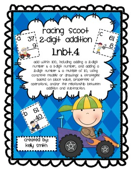 Adding 2 Digit Numbers Little Racers Scoot Game