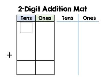 Adding 2-Digit Numbers Mat