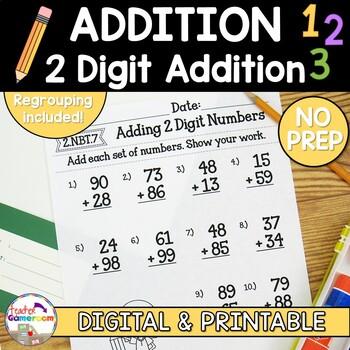 Adding 2 Digit Numbers Worksheets
