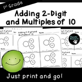 Adding 2-Digit Numbers and Multiples of 10-Student Pages (First Grade, 1.NBT.4)