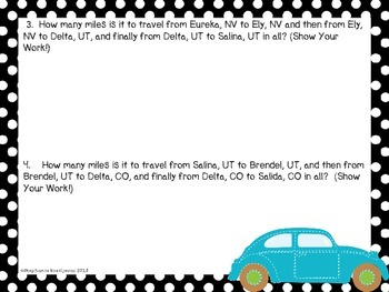 Adding 2 and 3 digit Numbers (Travel Across the Country on Route 50)
