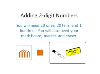 Adding 2-digit Numbers Powerpoint