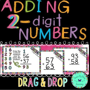 Adding 2-digit numbers BOOM Cards