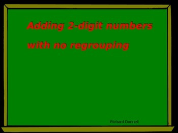Adding 2 digit numbers with no regrouping