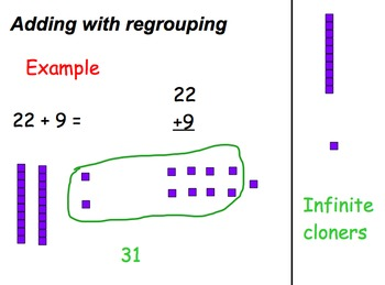 Adding 2 digit numbers with regrouping