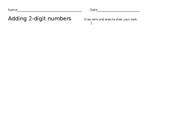 Adding 2 two digit numbers with tens and ones
