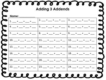 Adding 3 Addends