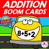 Adding 3 Addends BOOM Cards BIGGY MOUTH School