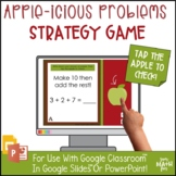 Adding 3 Addends - Make 10 Digital Game - Distance Learning or In-Class - Apples