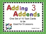 Adding 3 Addends Task Cards