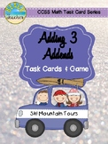 Winter Themed Adding 3 Addends Task Cards & Game