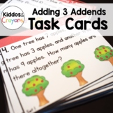 Adding 3 Addends Word Problems Task Cards 1.OA.A.2
