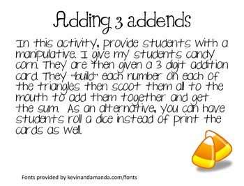 Adding 3 Addends to 5