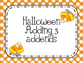 Adding 3 Addends to 5
