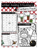 3 Addend Addition Games / Adding 3 Centers and Christmas Activities