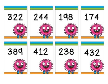 Adding 3 Digit Numbers Board Game