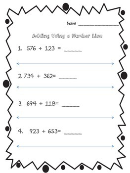 Adding 3-Digit Numbers on a Number Line