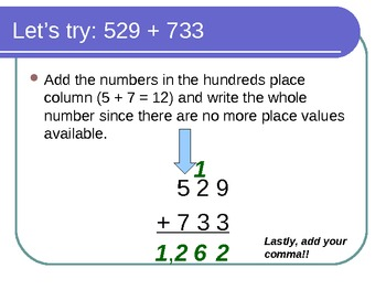Adding 3 Digit Numbers with Base 10 and Columns