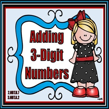 Adding 3-Digit Numbers Task Cards