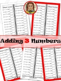 Adding 3 Numbers | Addition Worksheets | Drills