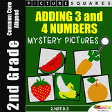 Math Mystery For 2nd Grade, Adding 3 Numbers Worksheets, Three Number Addition
