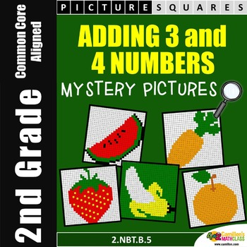 Adding Three Numbers, Coloring Worksheets, Mystery Pictures
