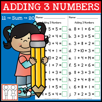 Adding 3 Numbers Less Than 20