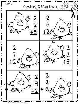 Adding 3 Numbers Game