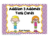 Adding 3 Numbers Task Cards