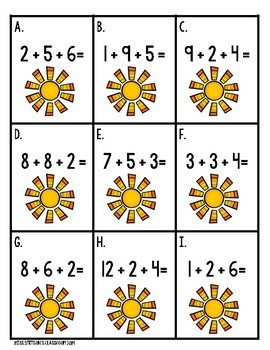Adding 3 Numbers #countdowntosummer