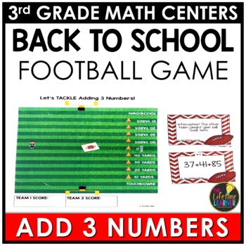 Adding 3 Numbers Back to School Game
