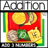 Adding 3 Numbers Burger Math Center