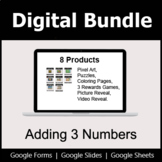 Adding 3 Numbers - Digital Bundle | Distance Learning