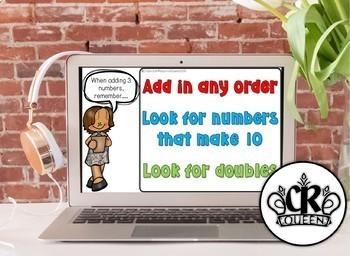 Adding 3 Numbers Digital Math Center for Google Classroom