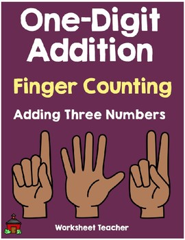 Adding 3 Numbers Finger Counting Worksheets