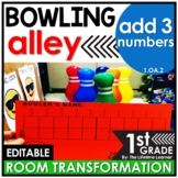 Adding 3 Numbers First Grade - Bowling Classroom Transformation