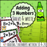 Adding 3 Numbers Write the Room Math