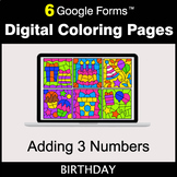 Adding 3 Numbers - Google Forms | Digital Coloring Pages