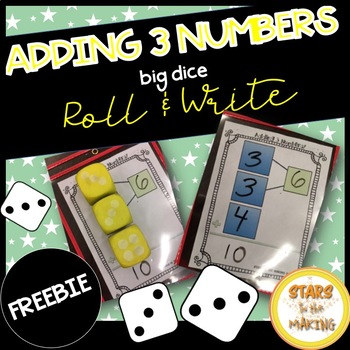 Adding 3 Numbers Mat (3 Addends)