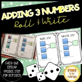Adding 3 Numbers Mat (3 Addends) Individual Mats