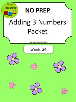 Adding 3 Numbers Packet - NO PREP