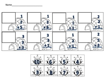 Adding 3 Numbers Penguin Addition Math Center Activity