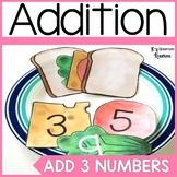 Adding 3 Numbers Sandwich Math Center
