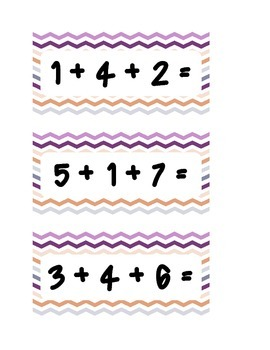 Adding 3 Numbers Scoot