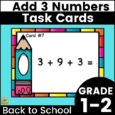Adding 3 Numbers Together - Addition of Three One-Digit Numbers