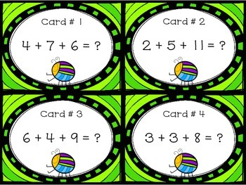 Adding 3 Numbers Together within 20