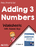 Adding 3 Numbers Worksheets Center Activities