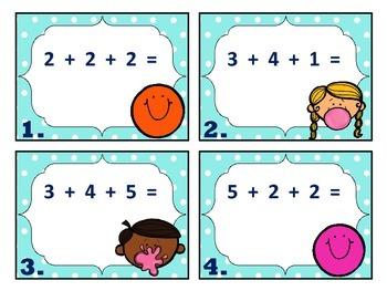 Adding Three 1-Digit Numbers