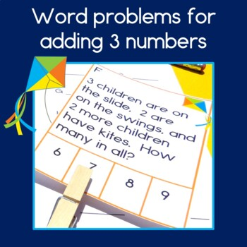 Adding 3 Numbers Word Problems